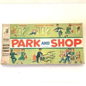 Vintage 1953 Milton Bradley Park & Shop board game